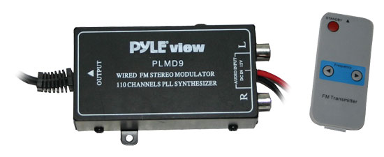 Pyle - PLMD9 , On the Road , Plug-in Audio Accessories - Adapters , 110 Channel Wired FM Modulator w/Digital Display