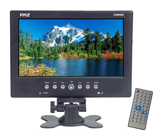 Pyle - PLMN9SD , On the Road , Video Monitors , 9'' TFT/LCD Monitor/MP3/MP4/USB & SD Card Reader