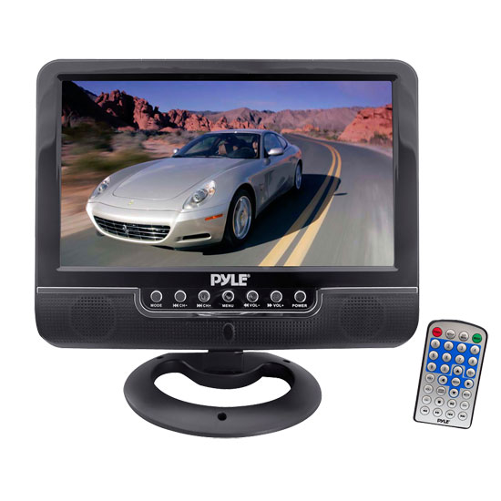 Pyle - PLMN9SU , On the Road , Video Monitors , 9'' Universal Multimedia Monitor with USB/SD Card Readers, AV Input/AV Output, Headphone Jack & Rechargeable Battery