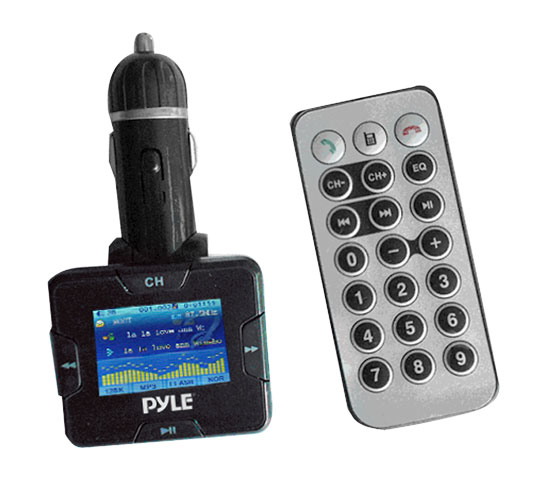Pyle - PLMP3C31B , On the Road , Plug-in Audio Accessories - Adapters , Plug In Car MP3 USB/SD/MMC/Ipod FM Modulator/Transmitter w/USB Charging Port  w/Bluetooth Hands Free Kit For All Bluetooth Phones