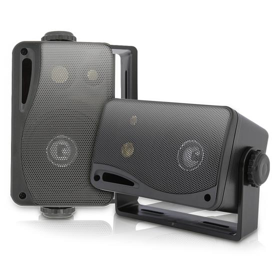 Pyle - PLMR24B , Used , 3.5'' 200 Watt 3-Way Weather Proof Mini Box Speaker System (Black)