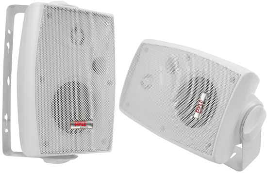 Pyle - PLMR34 , Marine Audio & Video , Speaker Enclosures , 3.5'' 200 Watt Two Way Sealed Speaker System