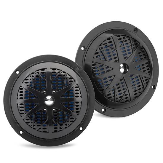 Pyle - PLMR51B , Used , Dual 5.25'' Waterproof Marine Speakers, 2-Way Full Range Stereo Sound, 100 Watt, Black