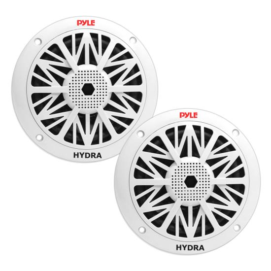 Pyle - PLMR52 , Marine Audio & Video , Coaxial Speakers and Kits , 150 Watts 5.25'' 2 Way White Marine Speakers