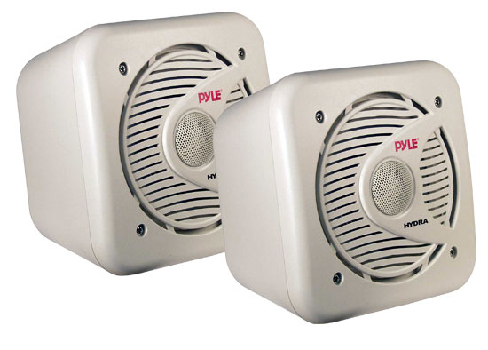 Pyle - PLMR53 , Marine and Waterproof , Weatherproof Speakers , 5.25'' 150 Watt Two-Way Shielded Marine Water Proof Speakers