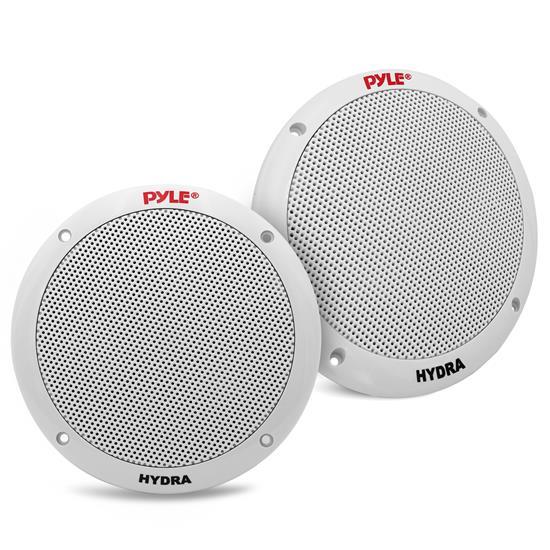 Pyle - PLMR605W , Marine and Waterproof , Weatherproof Speakers , Dual 6.5'' Waterproof Marine Speakers, 2-Way Full Range Stereo Sound, 400 Watt, White