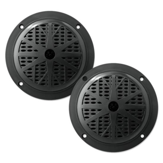 Pyle - PLMR61B , Marine and Waterproof , Weatherproof Speakers , 120 Watts 6.5'' Dual Cone Black Marine Speakers