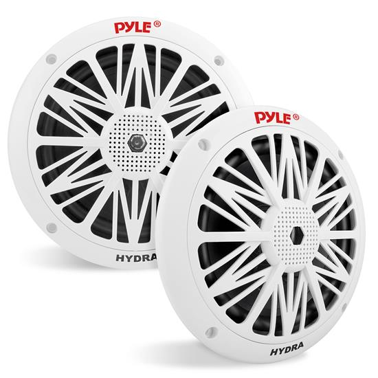 Pyle - PLMR62 , Used , Dual 6.5'' Water Resistant Marine Speakers, 2-Way Full Range Stereo Sound, Built-in Tweeters, 200 Watt, White