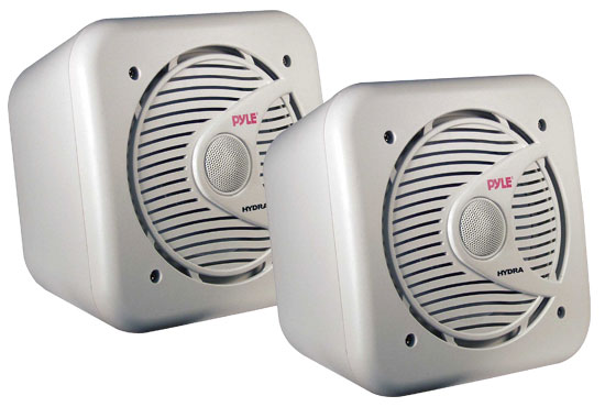 Pyle - PLMR63 , Marine Audio & Video , Coaxial Speakers and Kits , 6.5'' 200 Watt Two-Way Shielded Marine Water Proof Speakers