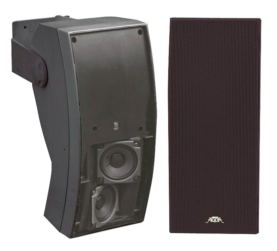 Pyle - PLMR64B , Used , 5''  3 Way Indoor/Outdoor Water Proof Wall Mount Speaker System (Black)