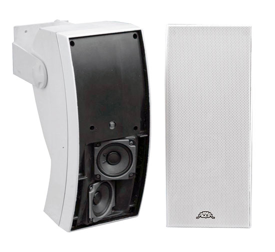 Pyle - PLMR64W , Marine and Waterproof , Weatherproof Speakers , 5''  3 Way Indoor/Outdoor Water Proof Wall Mount Speaker System (White)