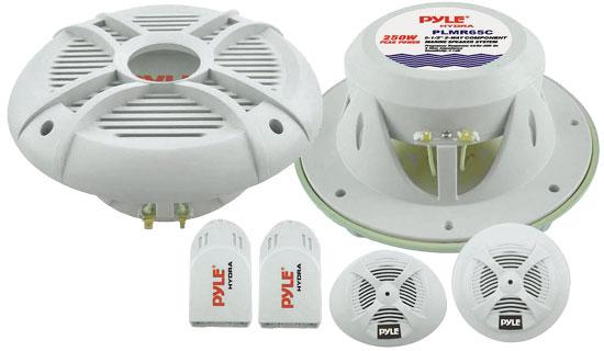 Pyle - PLMR65C , Used , 250 Watts 6.5'' 2-Way Custom Marine Component System