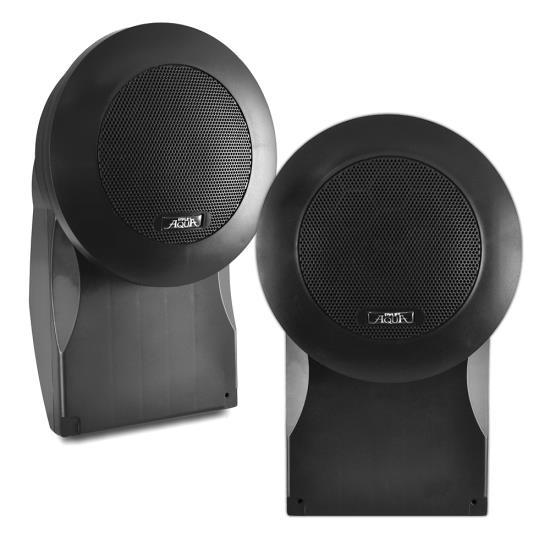 Pyle - PLMR66B , On the Road , Vehicle Speakers , 5'' High Quality PP Cone & PU Edge 500 Watts Marine Speakers (Black)