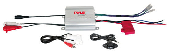 Pyle - PLMRMP1A , On the Road , Vehicle Amplifiers , 2 Channel Waterproof iPod/MP3 Marine Power Amplifier