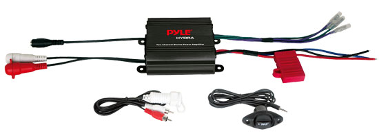 Pyle - PLMRMP1B , On the Road , Vehicle Amplifiers , 2 Channel 400 Watt Waterproof Micro Marine Amplifier