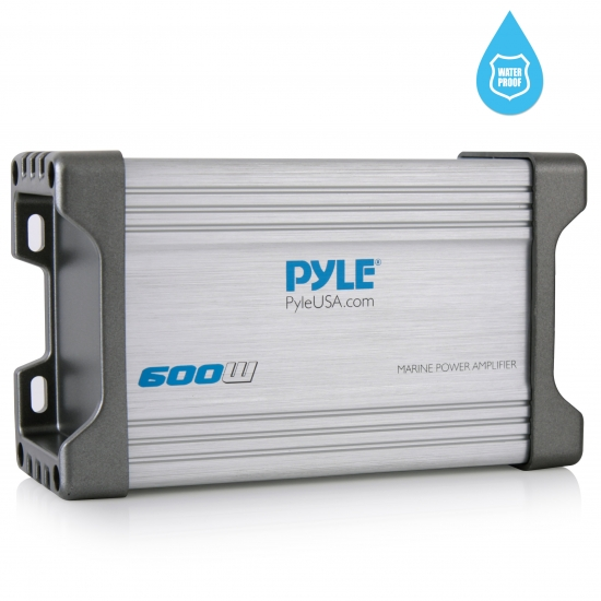 Pyle - PLMRMP2A , On the Road , Vehicle Amplifiers , 2-Ch. Waterproof Rated Marine Amplifier Kit, Marine Grade Amp, AUX/RCA/MP3 Audio Input (600 Watt MAX)