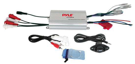 Pyle - PLMRMP3A , On the Road , Vehicle Amplifiers , 4 Channel Waterproof MP3/ Ipod Marine Power Amplifier