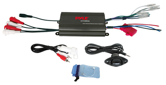 Pyle - PLMRMP3B , Marine Audio & Video , Amplifiers , 4 Channel 800 Watt Waterproof Micro Marine Amplifier
