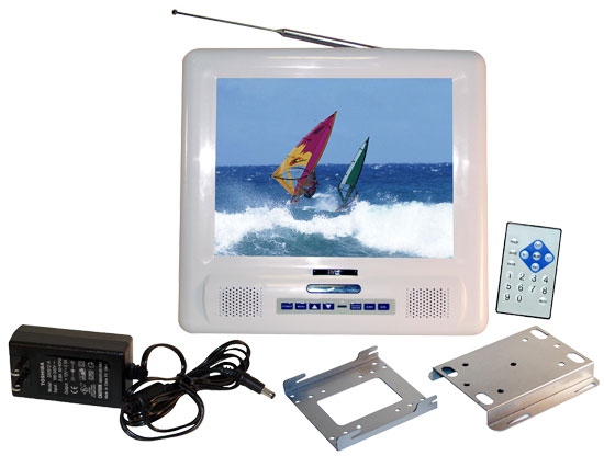 Pyle - PLMRVW105 , Marine and Waterproof , Marine Video , 10.4'' TFT LCD Splash Proof Monitor with TV Tuner