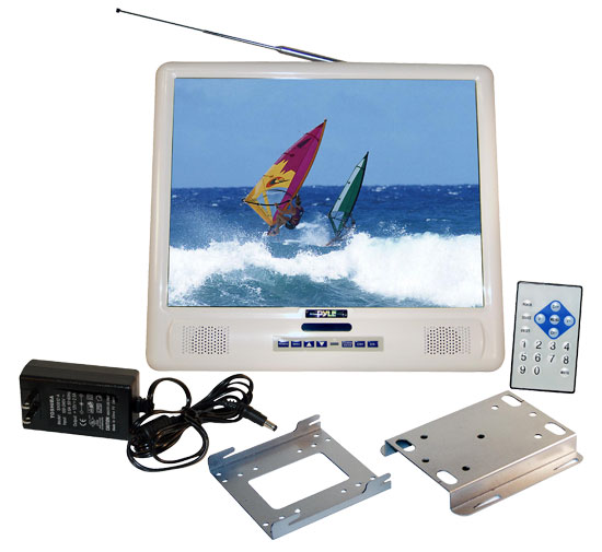 Pyle - PLMRVW155 , Marine and Waterproof , Marine Video , 15'' TFT LCD Splash Proof Monitor with TV Tuner