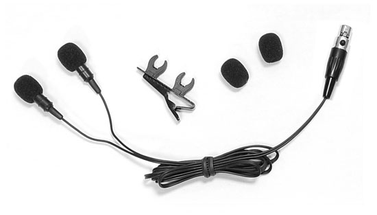 Pyle - PLMS48 , Musical Instruments , Microphones - Headsets , Sound and Recording , Microphones - Headsets , Dual Electret Condenser Cardioid Lavalier Microphone W Windscreens & Clip For Shure system