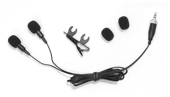Pyle - PLMSH45 , Musical Instruments , Microphones - Headsets , Sound and Recording , Microphones - Headsets , Dual Electret Condenser Cardioid Lavalier Microphones W/ Windscreens & Clip For Sennheiser Belt Pack system