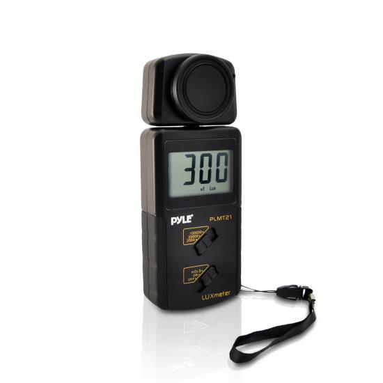 Pyle - PLMT21 , Tools and Meters , Light - Lux , Pyle Handheld Lux Light Meter Photometer W/ 20,000 Lux range, 2x Per Second Sampling, and Digital Display