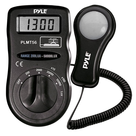 Pyle - PLMT56 , Personal Electronics , Meters & Testers , Light Meter With Lux Measures Up To 50000 Lux