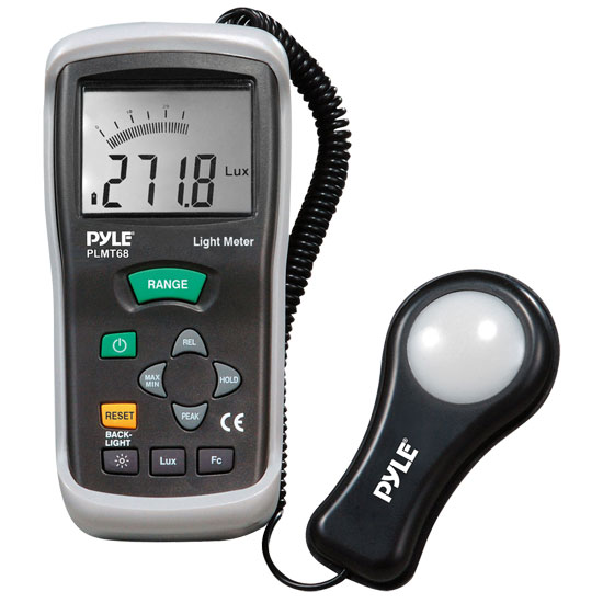Pyle - PLMT68 , Personal Electronics , Meters & Testers , Light Meter With Lux and Foot Candles With Bar Graph Measures Up to 400000 Lux
