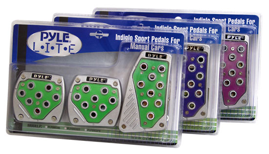 Pyle - PLPDM3PR , Performance Parts , Indiglo Sports Pedals , Pyle Lite Series Purple Indiglo Manual Pedals