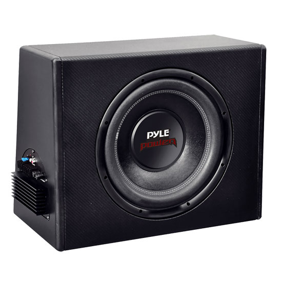 Pyle - PLPR10A , Car Audio , Subwoofer Enclosures , Bandpass Systems , 10'' Slim Design Powered Enclosure System