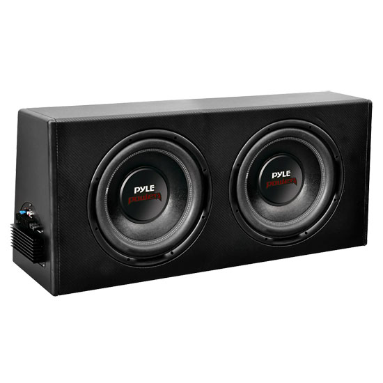 Pyle - PLPR210A , Car Audio , Subwoofer Enclosures , Amplified Enclosures , Dual 10'' Slim Design Powered Enclosure System