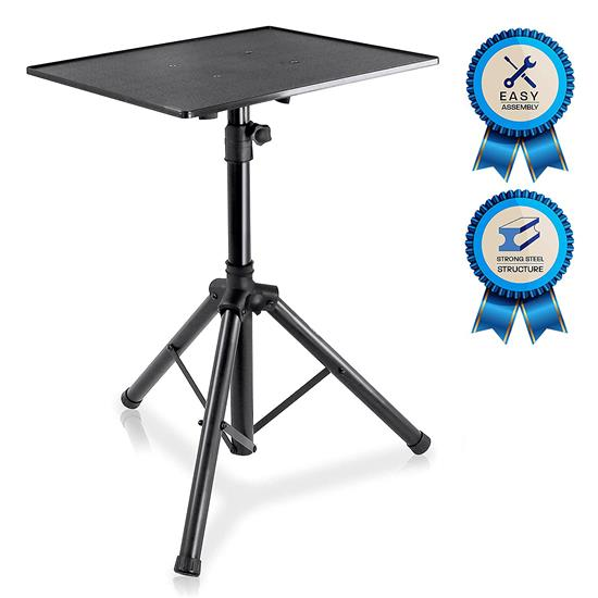 Pyle - PLPTS3 , Musical Instruments , Mounts - Stands - Holders , Sound and Recording , Mounts - Stands - Holders , Pro   DJ Laptop Tripod Adjustable Stand For Notebook Computer