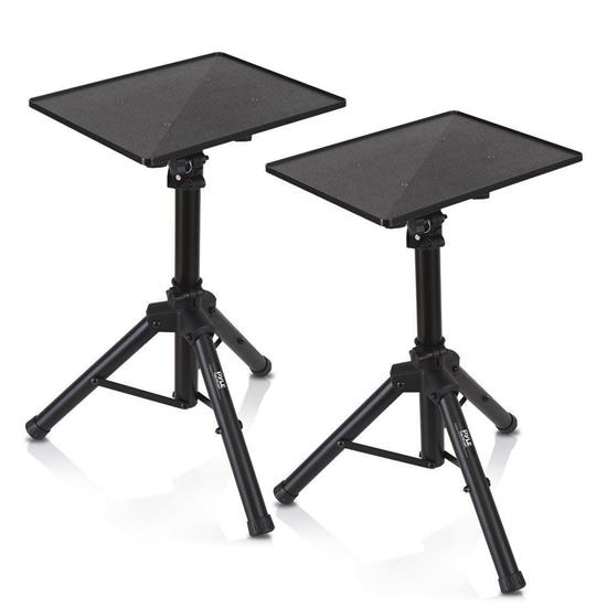 Pyle - PLPTS4X2 , Musical Instruments , Mounts - Stands - Holders , Sound and Recording , Mounts - Stands - Holders , Universal Laptop Device Stand - Height Adjustable Tripod Mount For Laptop, Notebook, Mixer, DJ Equipment