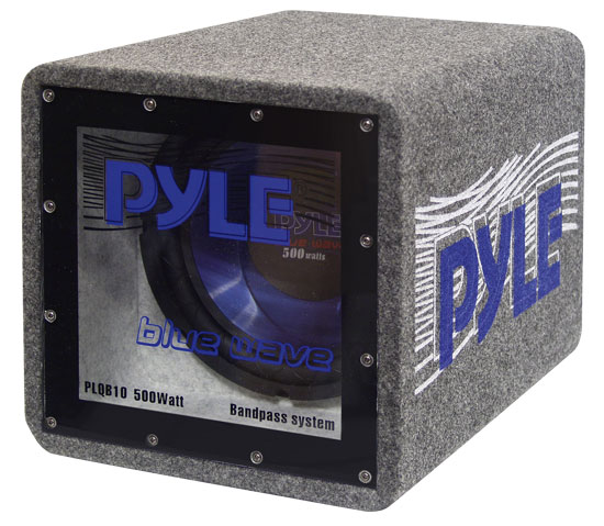 Pyle - PLQB10 , On the Road , Subwoofer Enclosures , 10'' 500 Watt Bandpass Enclosure System