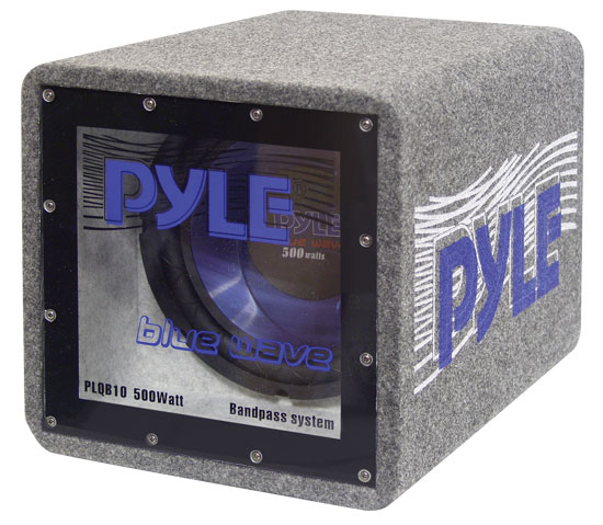 Pyle - PLQB8 , On the Road , Subwoofer Enclosures , 8'' 400 Watt Bandpass Enclosure System