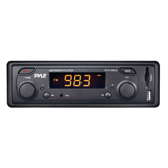 Pyle - PLR14MUA , Car Audio , Car Stereos , In-Dash AM/FM-MPX MP3 Dual Knob Radio w/USB/SD Card