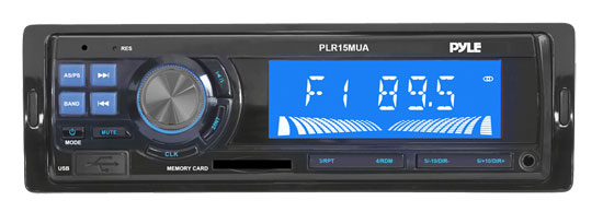 Pyle - PLR15MUA , Car Audio , MP3 Receivers , In-Dash AM/FM Radio with USB/SD Card Readers, Aux-In & MP3 Player