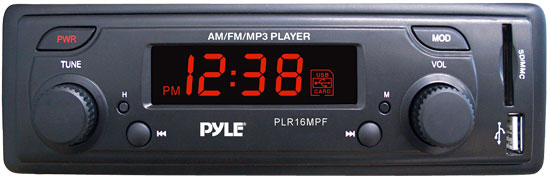 Pyle - PLR16MPF , On the Road , Headunits - Stereo Receivers , In-Dash AM/FM-MPX Receiver MP3 Playback with USB/SD Card