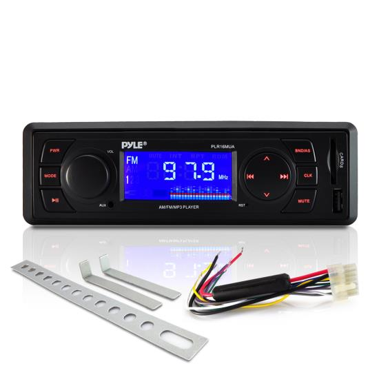 Pyle - PLR16MUA , Car Audio , MP3 Receivers , In-Dash AM/FM-MPX Receiver MP3 Playback with USB/SD Card