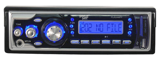 Pyle - PLR24MPF , Car Audio , MP3 Receivers , AM/FM Receiver MP3 Playback with USB/SD/AUX-IN