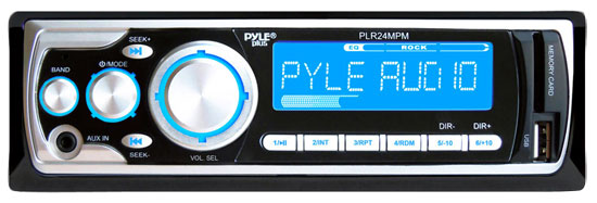 Pyle - PLR24MPM , On the Road , Headunits - Receivers , AM/FM Receiver MP3 Playback with USB/SD/AUX-IN