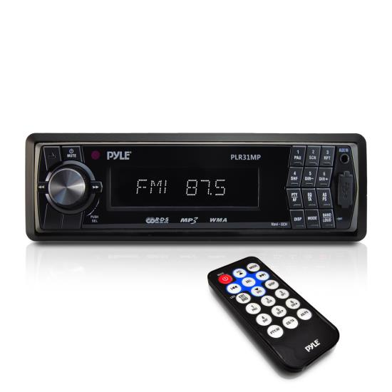 Pyle - PLR31MP , Car Audio , MP3 Receivers , AM/FM-MPX In-Dash Detachable Face Radio w/SD/MMC/USB Player