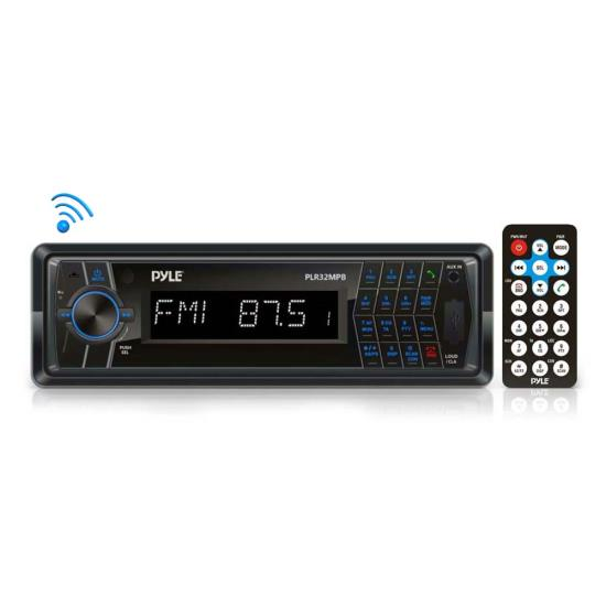 Pyle - PLR32MPB , Car Audio , Car Stereos , In-Dash AM/FM-MPX Radio with SD/USB/MP3 Playback, 3.5mm Aux-In, Bluetooth Wireless Streaming