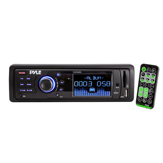 Pyle - PLR33MPD , Car Audio , Car Stereos , AM/FM Band Radio USB/SD Receiver w/ Detachable Face