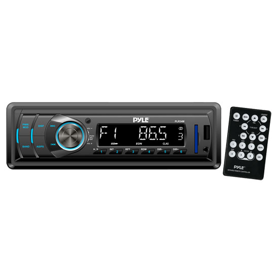Pyle - PLR34M , Car Audio , Car Stereos , In-Dash AM/FM-MPX Receiver With MP3 Playback & USB/SD/Aux Inputs