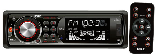 Pyle - PLR35MPD , On the Road , Headunits - Stereo Receivers , In-Dash AM/FM-MPX Receiver MP3 Playback With USB/SD/AUX Ports W/Detachable Faceplate