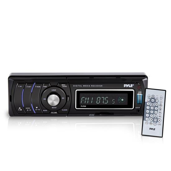 Pyle - PLR38I , Car Audio , Car Stereos , AM/FM/MP3/WMA Detachable Face Player W/ USB/SD Reader & Ipod Interface