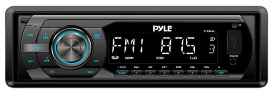 Pyle - PLR44MU , On the Road , Headunits - Receivers , In-Dash AM/FM-MPX Detachable Face Receiver With MP3 Playback & USB/SD/Aux Inputs