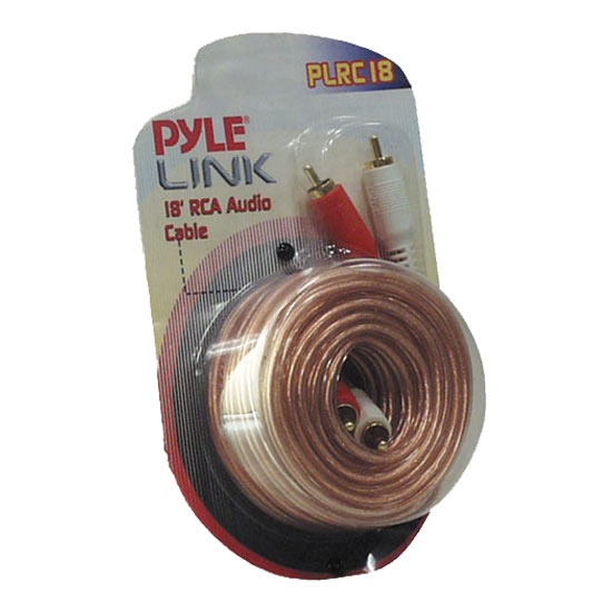 Pyle - PLRC18 , Car Audio , Audio / Video Cables And Accessories , Speaker Cables , 18ft Stereo RCA Cable